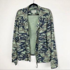 Anthro Marrakech Darcy Camo Tencel Jacket L